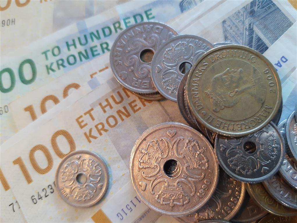 mønter og pengesedler
