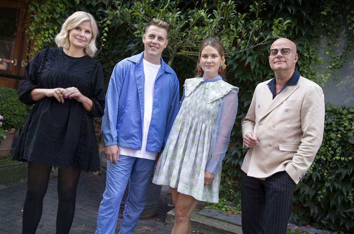 Sofie Linde, Martin Jensen, Oh Land og Thomas Blachman poserer for kameraet