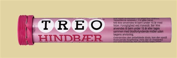 Et rør med Treo-tabletter