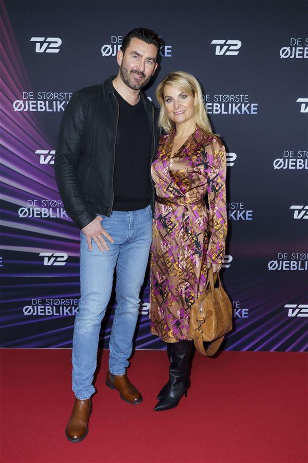 Mads Sebbelov og Michéle Bellaiche på den røde løber, da de stod frem som par i 2019.