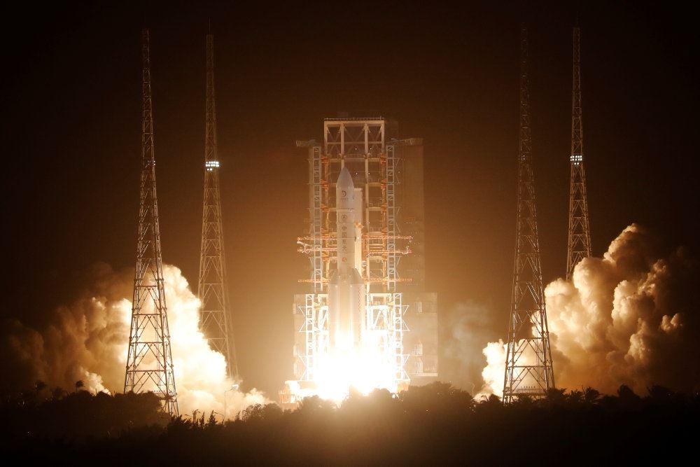 raket under opsending