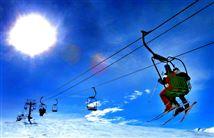 skiturister i lift