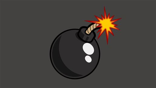 grafik forestillende en bombe