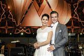 Nukaka Coster-Waldau og Silas Holst i dansestudiet.