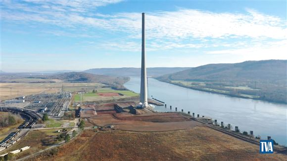 skorstenen ved kulkraftværk Widows Creek Fossil Plant