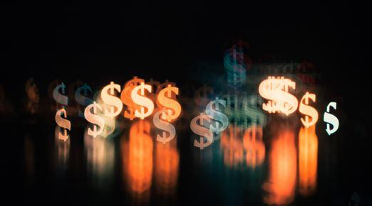 Grafik med dollartegn