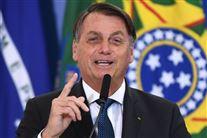 Brasiliens præsident, Jair Bolsonaro, taler fra talerstol