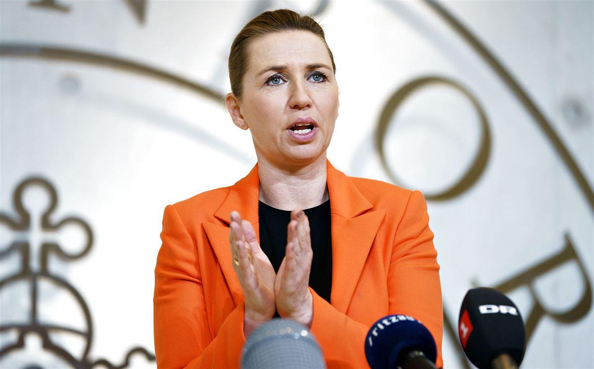 Mette Frederiksen på pressemøde