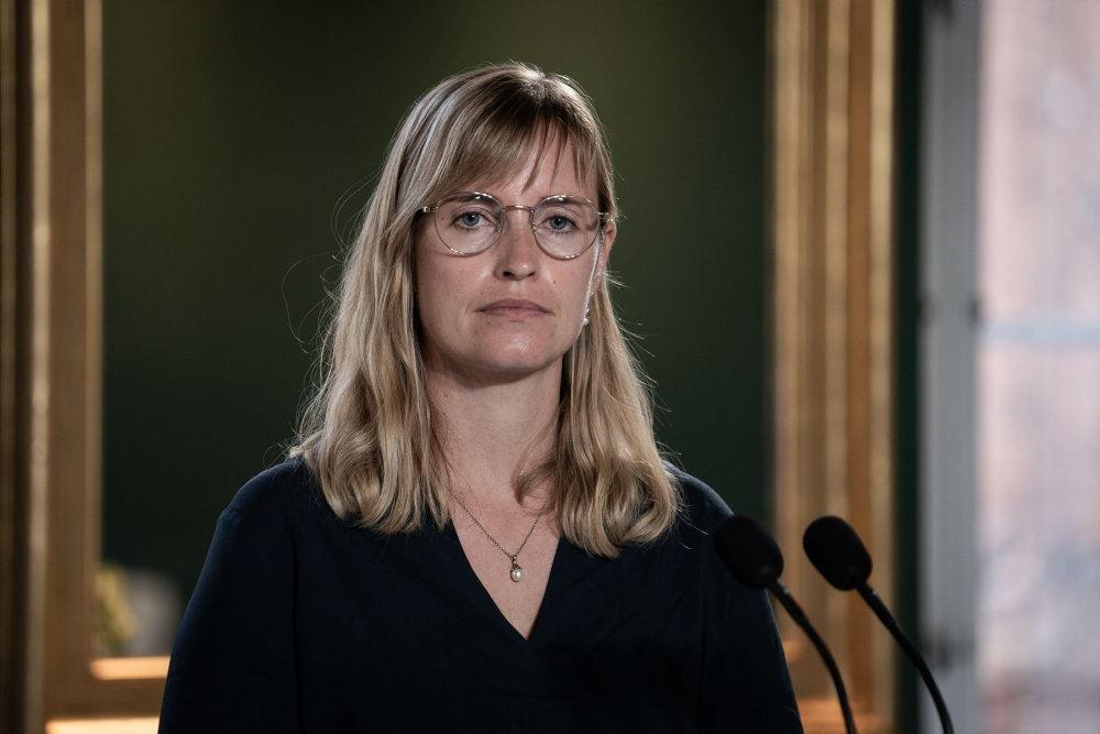Stephanie Lose på pressemøde