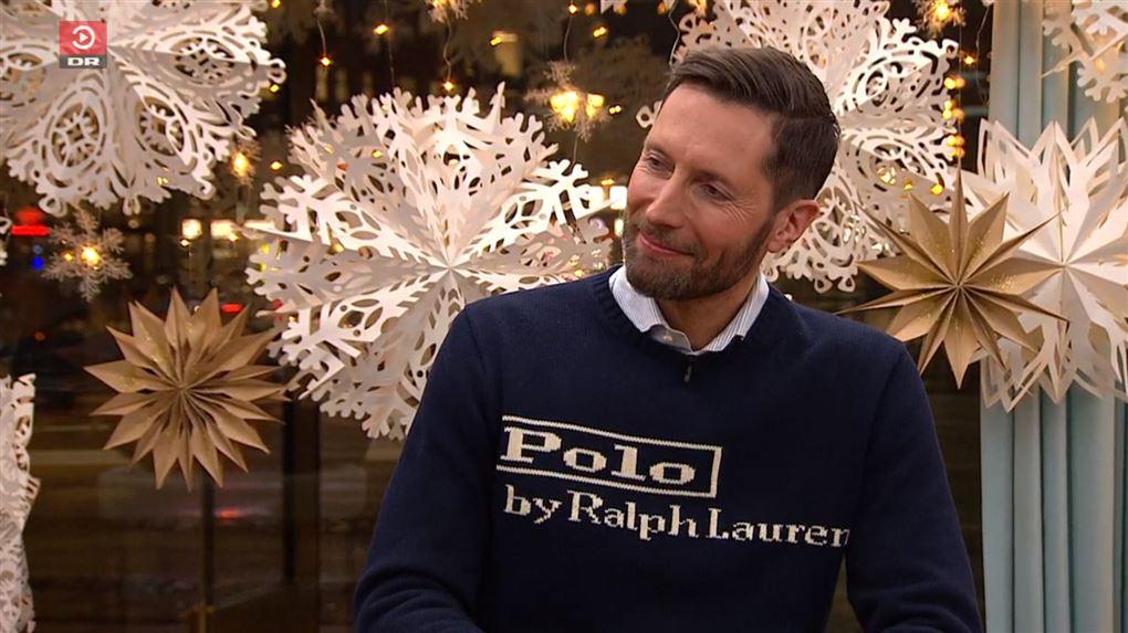 kåre quist iført den omtalte trøje i Aftenshowet