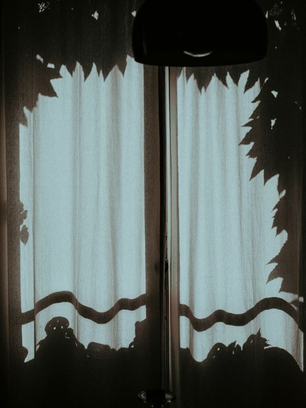 Billede af gardiner taget ude fra