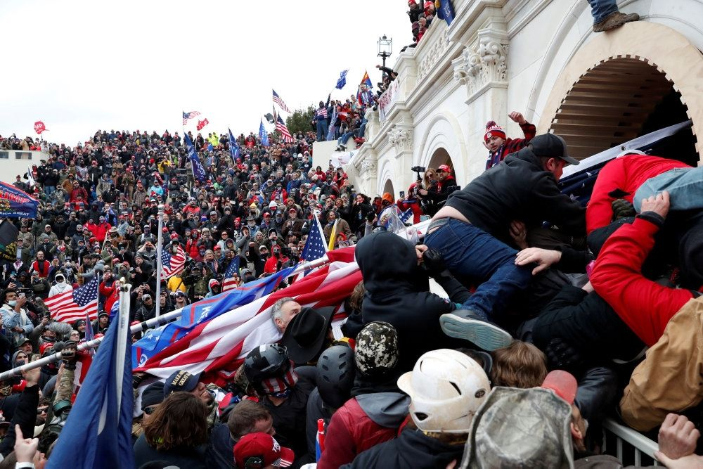 demonstranter foran den amerikanske kongres