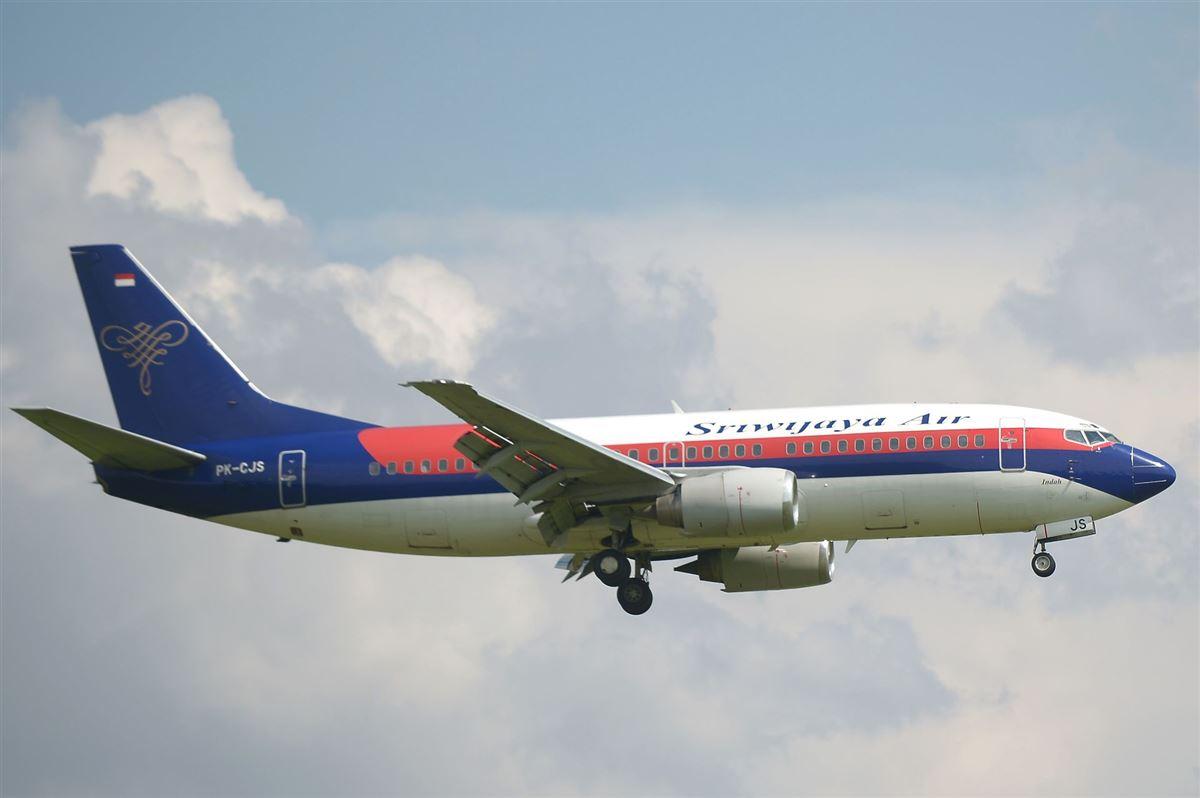 fly fra selskabet Siriwijaya Air i luften