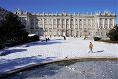 kongepaladset i spanien i frostvejr