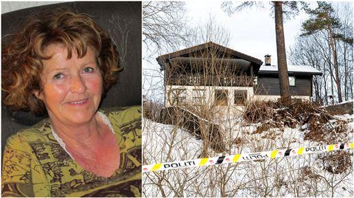 Sammenkopieret billede af Anne-Elisabeth Hagen og ægteparrets hus