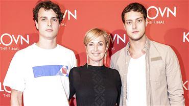 Natasja Crone til premiere med sine to sønner, Noah og Samuel.