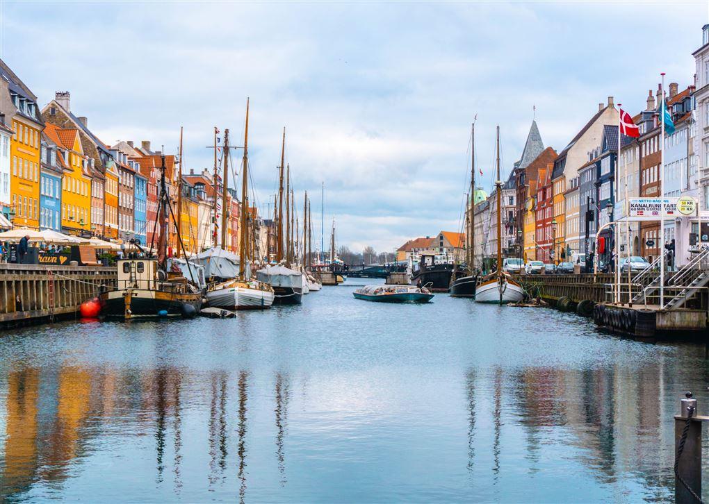 Billede fra nyhavn i København.