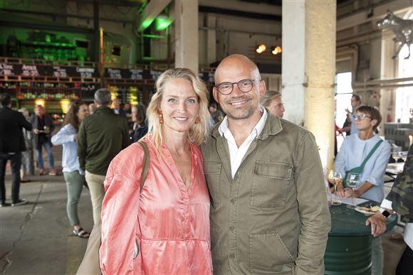 Annette Heick og Jesper Vollmer til reception