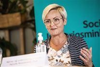 Pernille Rosenkrantz-Theil på pressemøde