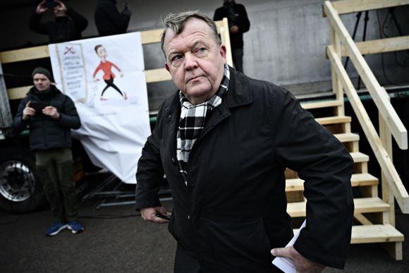 Lars Løkke Rasmussen udendørs