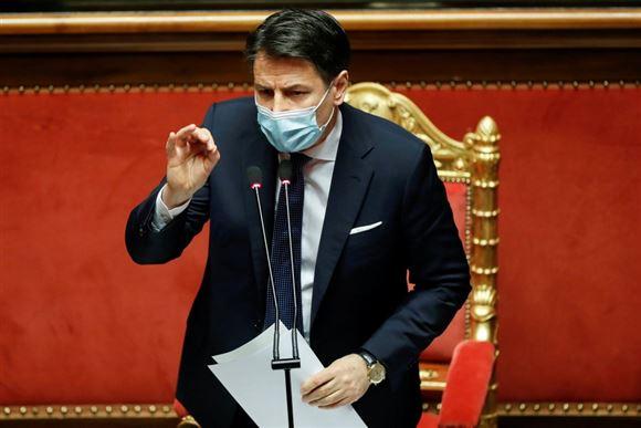 Giuseppe Conti taler i parlamentet