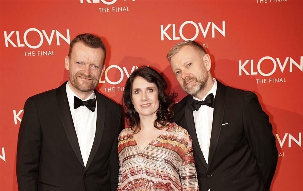 Frank Hvam, Mia Lyhne og Casper Christensen til premiere på Klovn-film