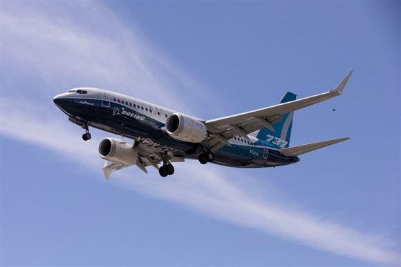 Et Boeing MAX fly i luften