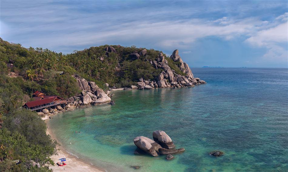 Strand på den den thailandske ø Koh Phangan