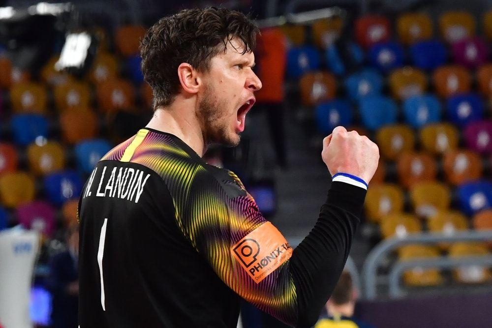 Niklas Landin under kamp