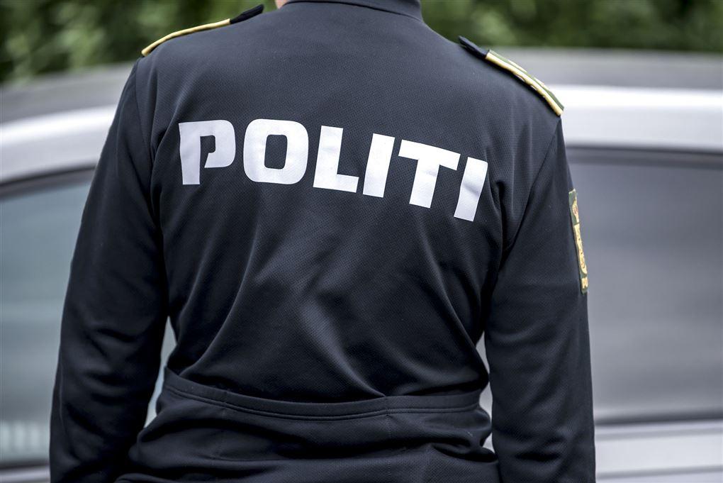 politimand set bagfra