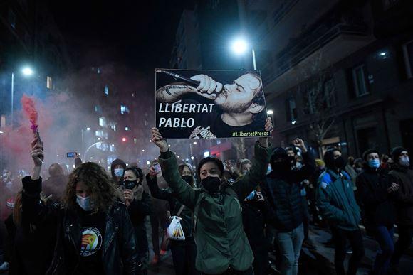 Demonstration på gaden