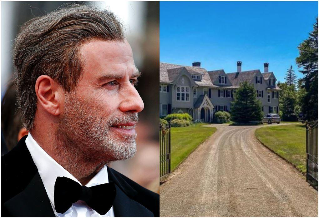 John Travolta og et prangende hus bag en indkørsel