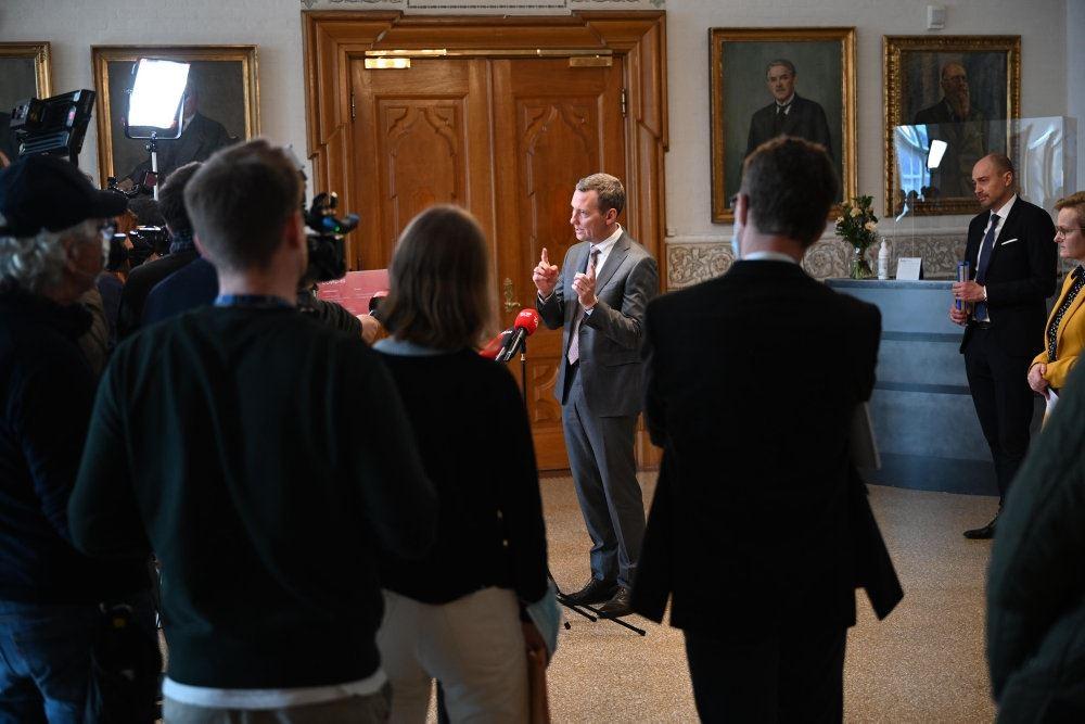 Pressemøde på Christiansborg