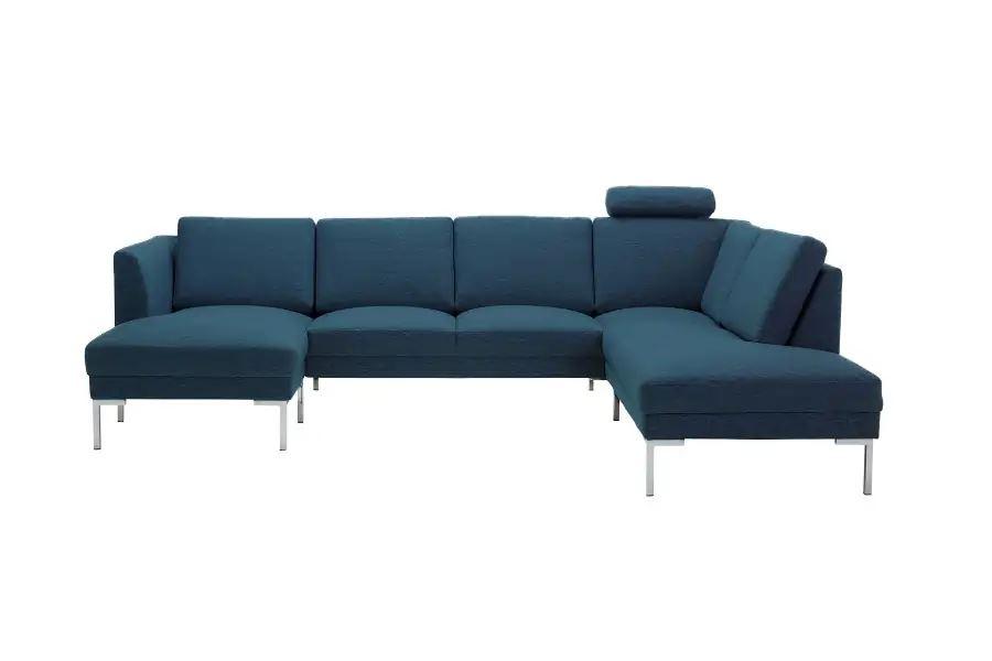 U-sofa med nakkestøtte