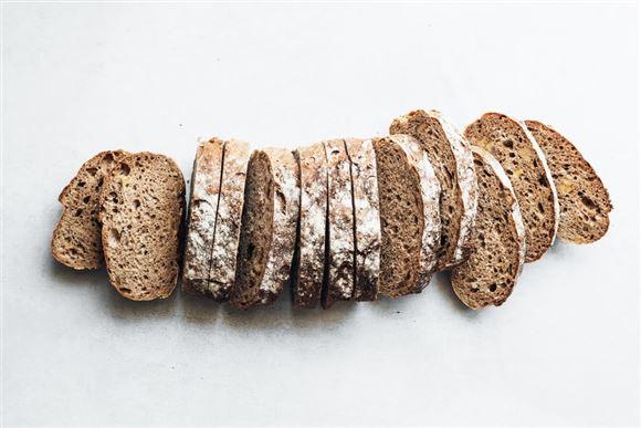 Brød skåret i skiver