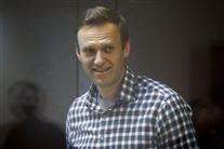Billede af den fængslede Aleksej Navalnyj