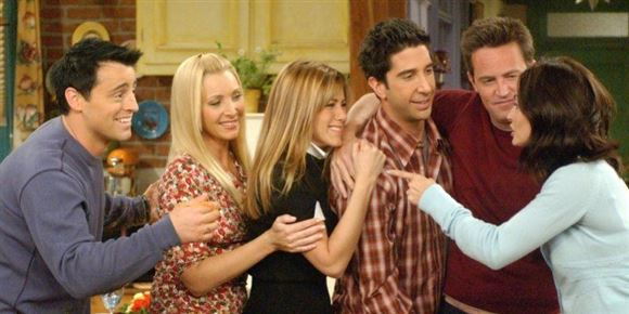 """billede af de seks """"venner"""""""