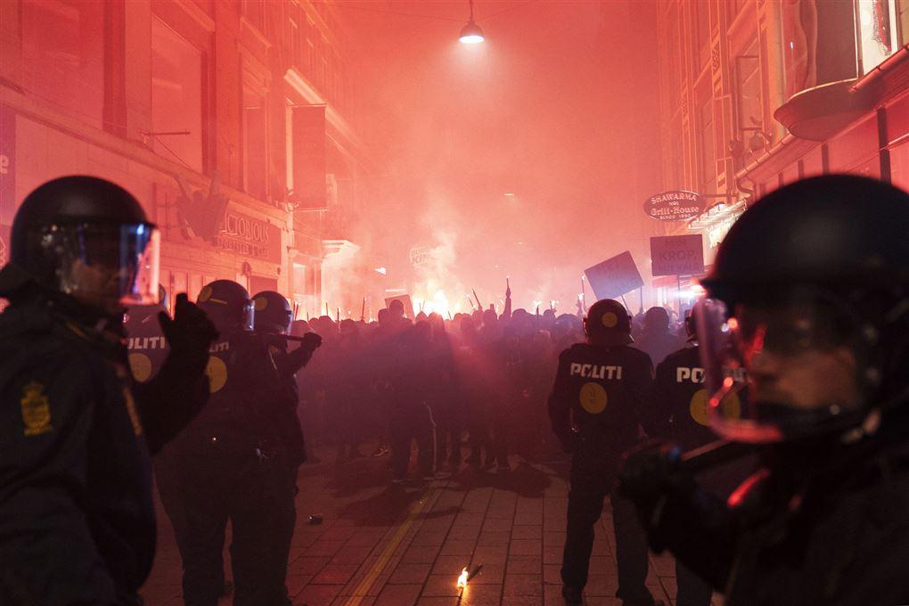 billede fra demonstrationen den 9. januar