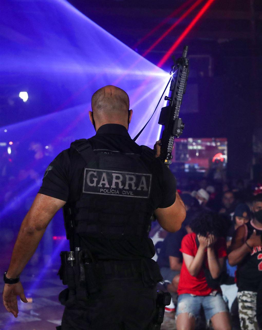Billede fra politiets aktion