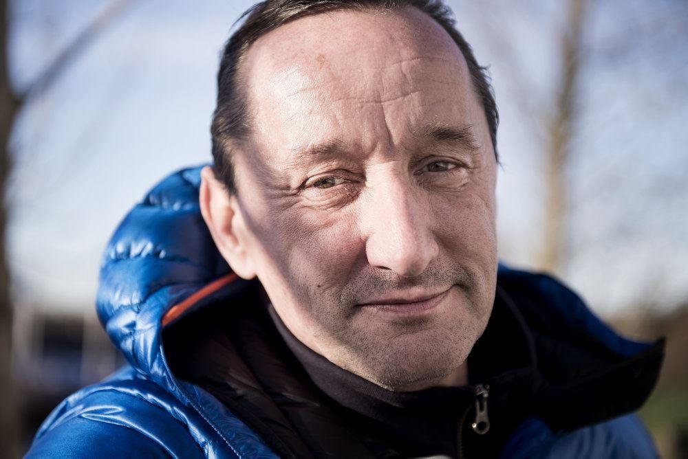 Nærbillede af Jesper Skibby i vinterkulden