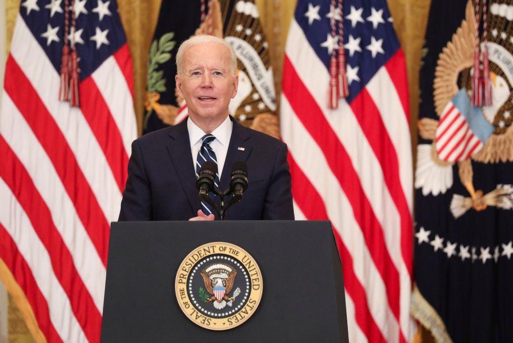 Joe Biden på talerstol