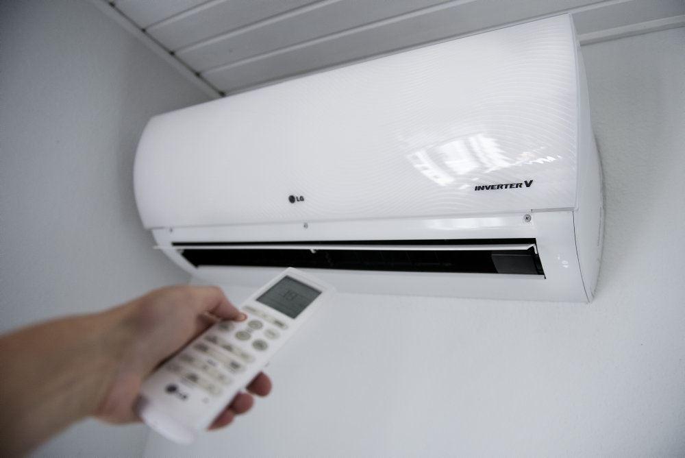 billede af en varmepumpe