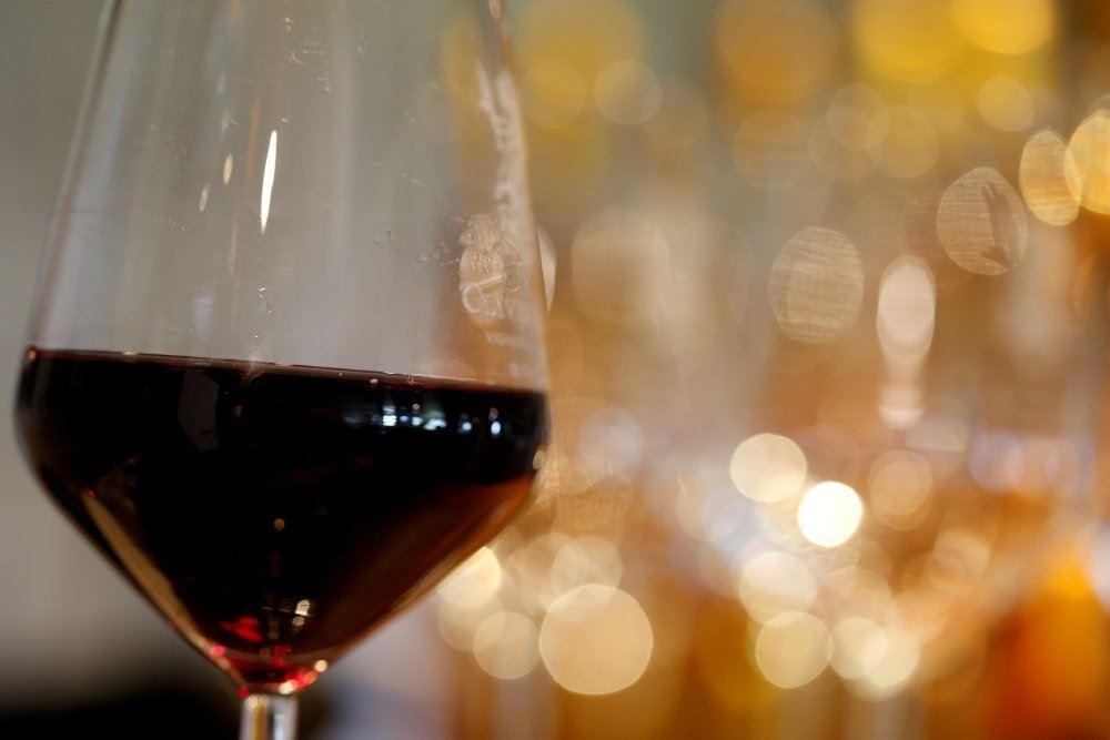 billede af et glas vin