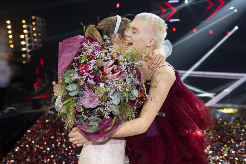 billede af Solveig efter sejren