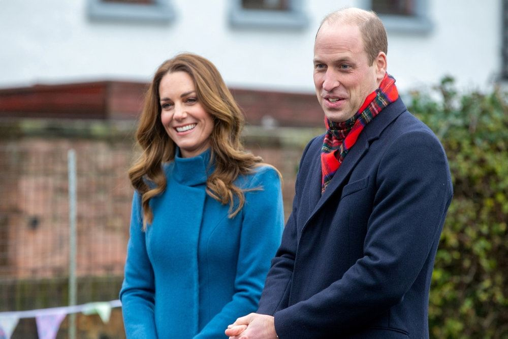 Prins William med sin kone