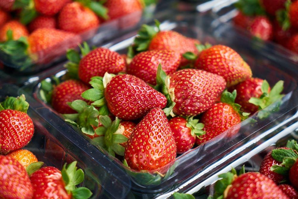 jordbær i bakker