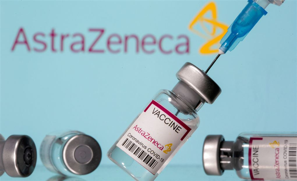 Modelbillede af vaccinen fra AstraZeneca.
