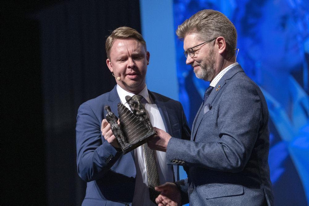 Jacob Bjerregaard i samtale med Frank Jensen