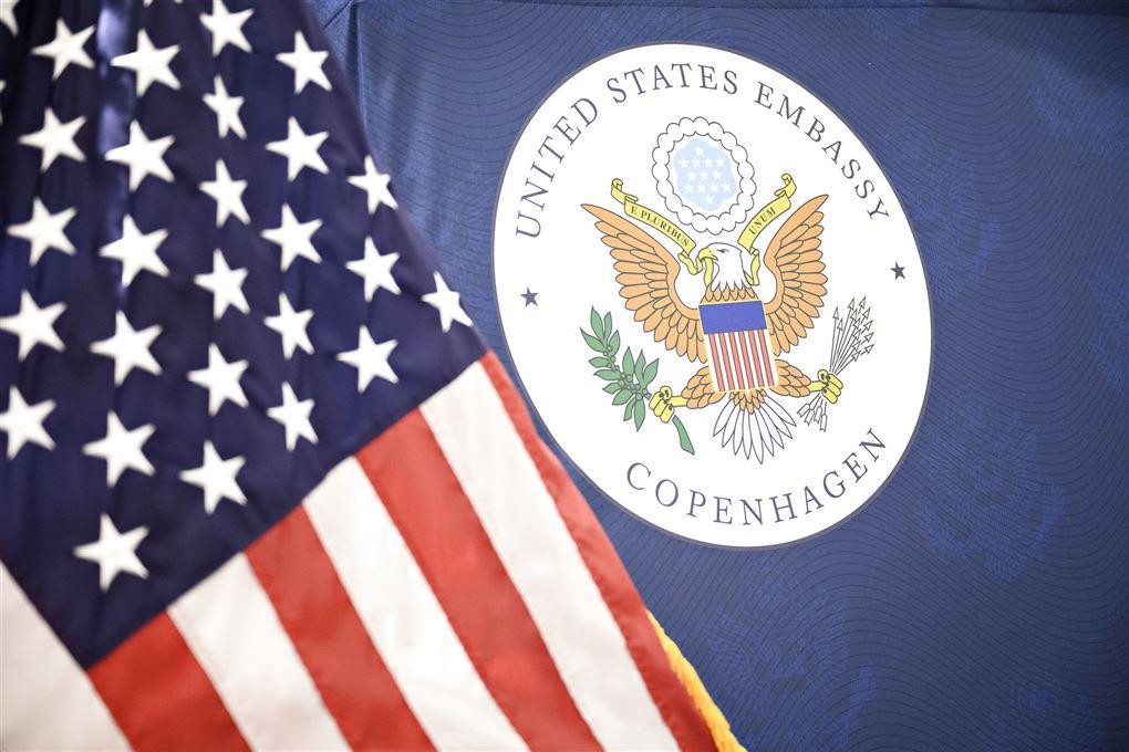 Stars and Stripes og sejl for den amerikanske ambassade i København
