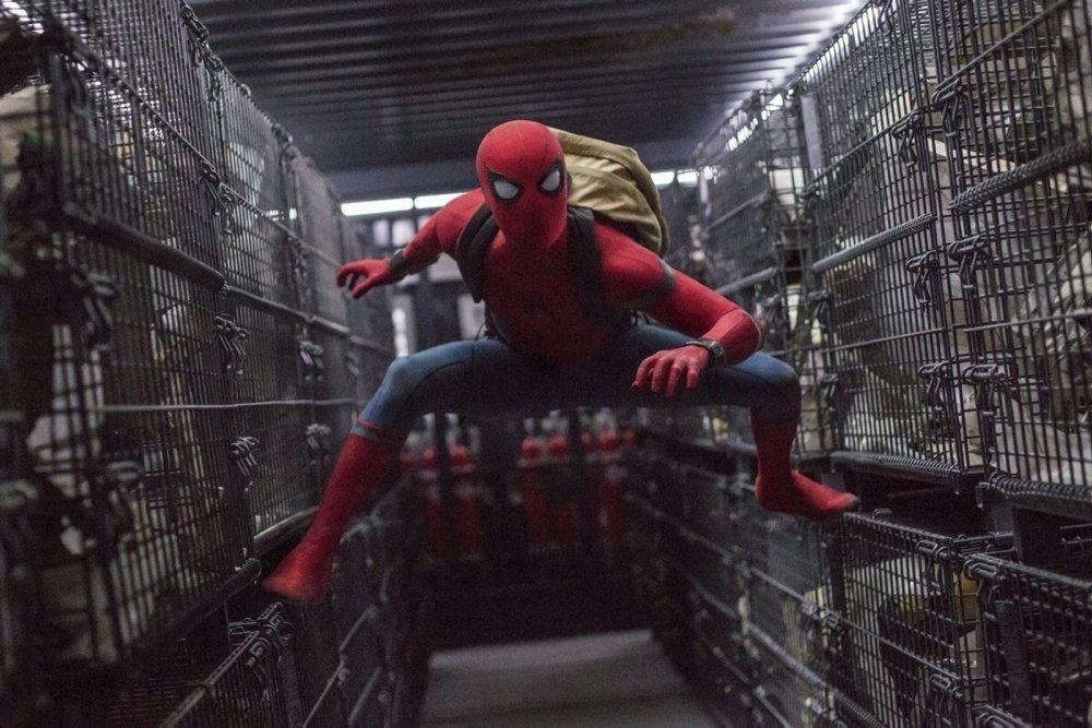 Spiderman i et bur